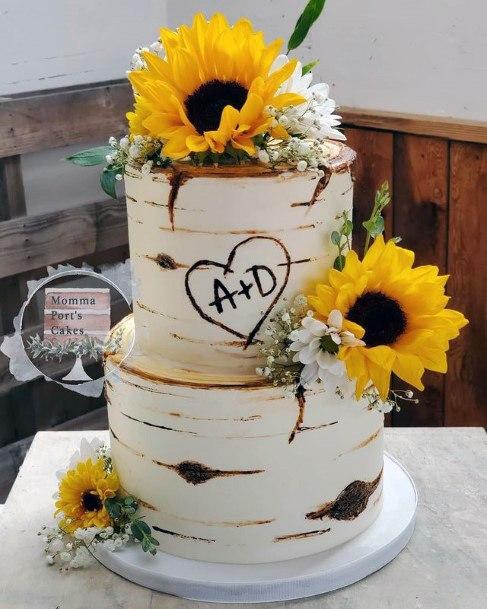 Brilliant Sunflower Wedding Cakes Women