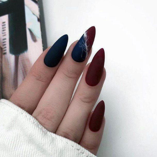 Brown Black Blast On Nails Design For Women