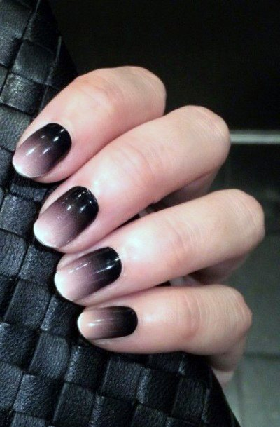 Brown Ombre Nails Women
