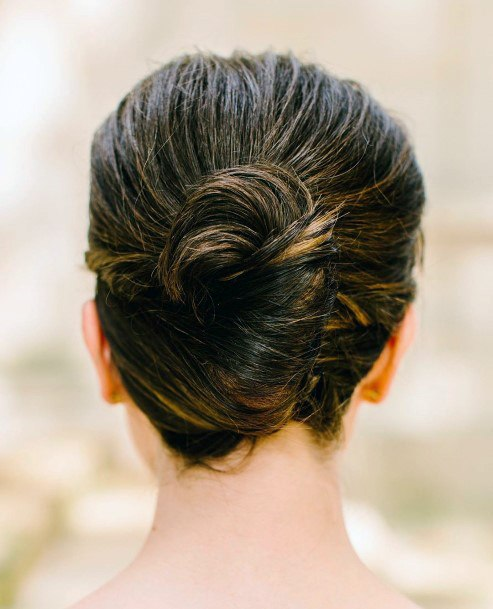 Brunette Tuffed French Twist For Women And Girls