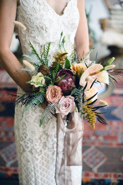 Bunch Of Rustic Wedding Flowers