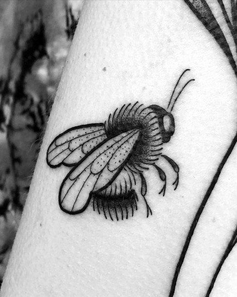 Bushy Bee Tattoo For Women