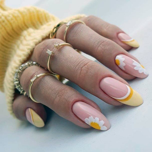 Buttercup Yellow April Nails Flower Women