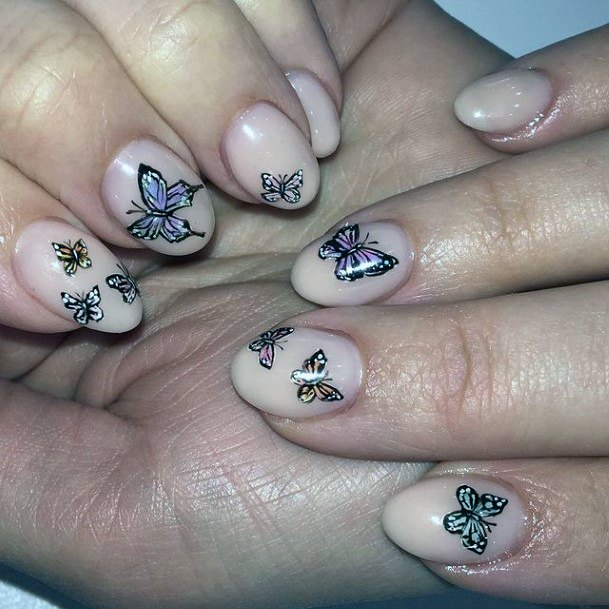 Butterfly Stickers April Nails Women