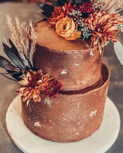 Cacao Brown Chocolate Wedding Cake