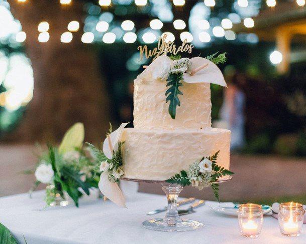 Cake And Hawaiian Wedding Flowers