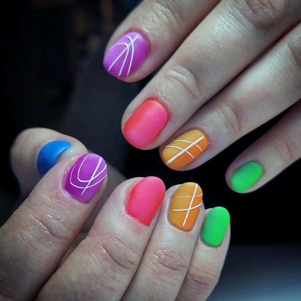 Candy Colored Matte Nails
