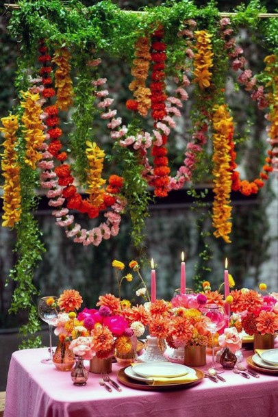 Candy Pink Themed Indian Wedding Flowers Decor