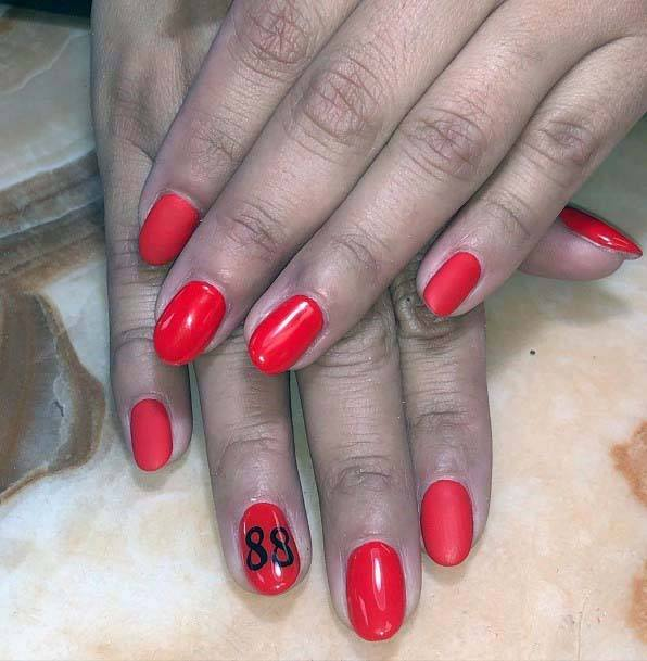 Candy Red Sport Nails For Women