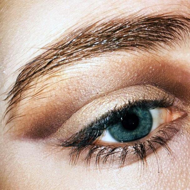 Cappucino Brown And Gold Eyeshadow Women