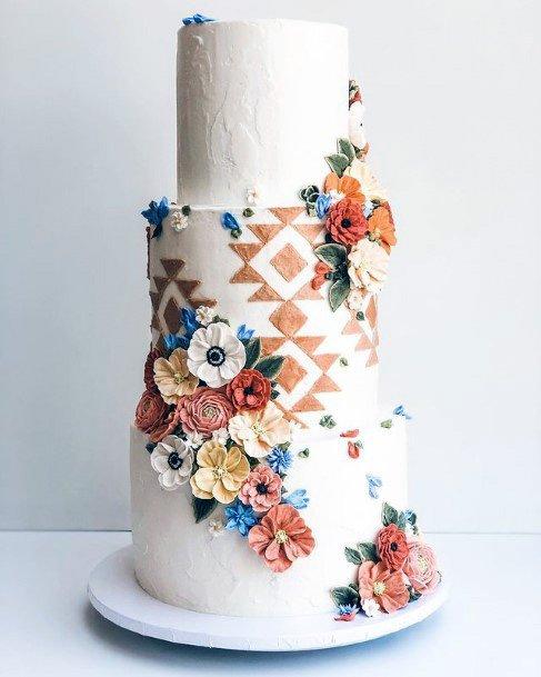 Captivating 3 Tier Wedding Cake Women