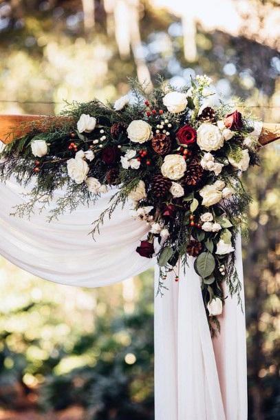 Captivating Christmas Wedding Flowers