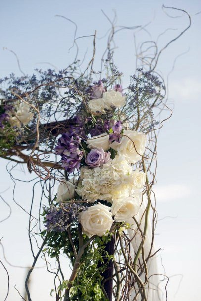Captivating Lavender Flowers Arch Wedding