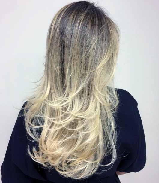 Cascading Long Sun Kissed Blonde Hair