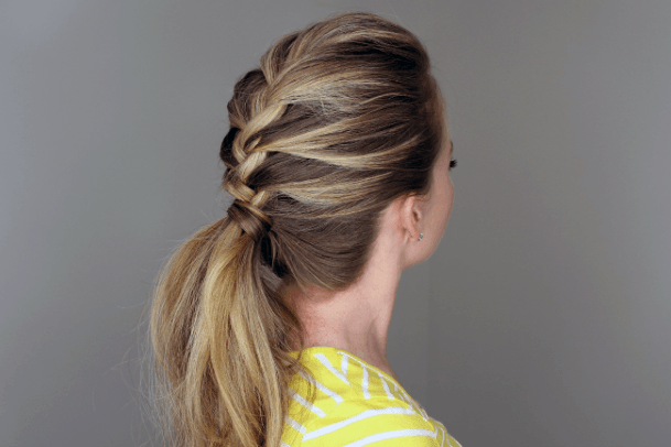 Casual French Braided Pony Hairstyle For Women