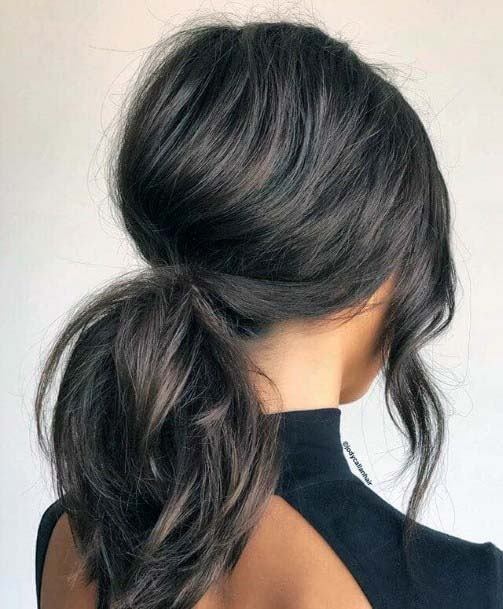 Casual Pouffed Pony Hairstyle For Women