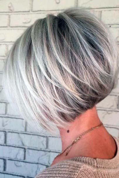 Casual Salt And Pepper Short Hairstyle Women