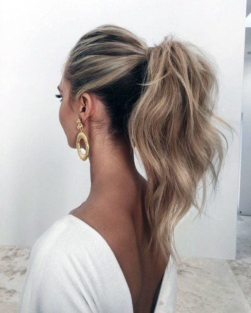 Casual Wavy High Ponytail Women