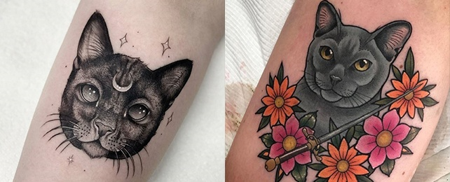 Top 130 Best Cat Tattoo Designs For Women – Feminine Feline Body Art
