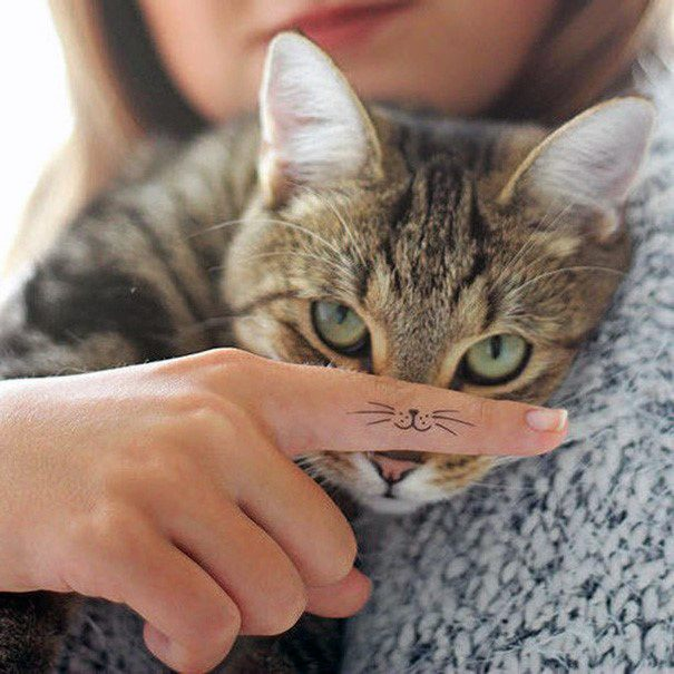 Cat Whiskers Tattoo For Women