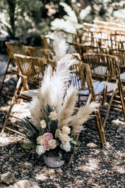 Chair Decor Boho Wedding Flowers