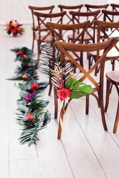Chair Decor Hawaiian Wedding Flowers