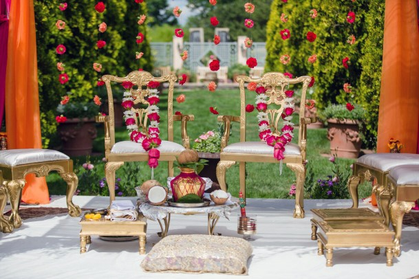 Chair Decor Indian Wedding Flowers Garland