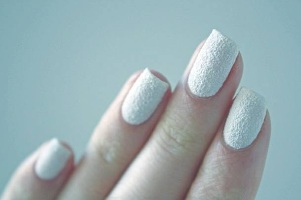 Chalk White Sugar Nails For Women