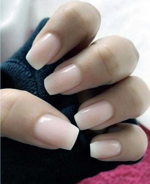 Chalky Natural Nail Ideas For Women
