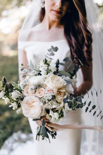 Chalky White Rustic Wedding Flowers