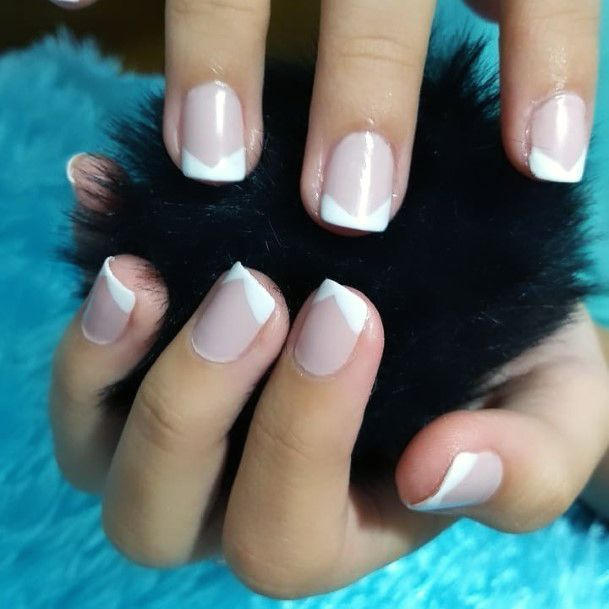 Charming Angled French Manicure For Women