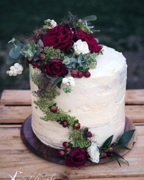 Charming Red Velvet Wedding Cake
