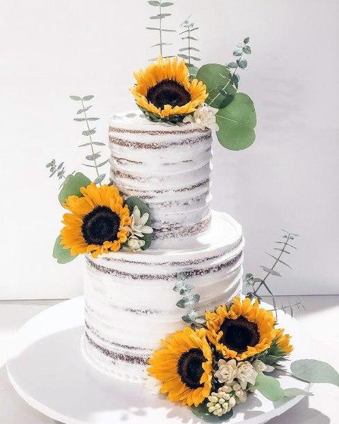 Charming Sunflower Wedding Cake Women