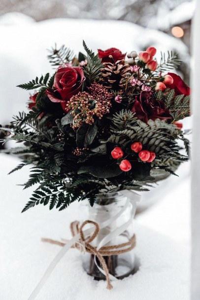 Charming Wedding Christmas Flowers