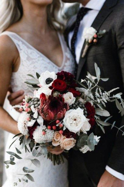 Cheerful Christmas Wedding Flowers