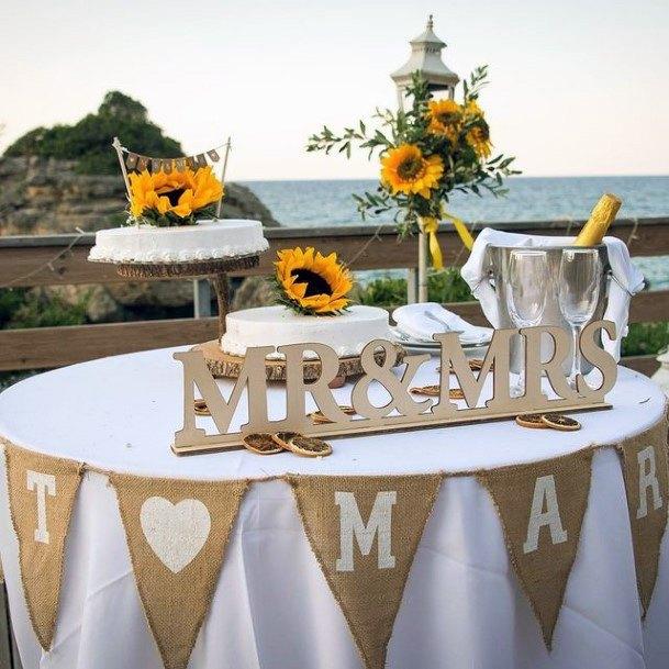 Cheery Sunflower Wedding Cakes Women