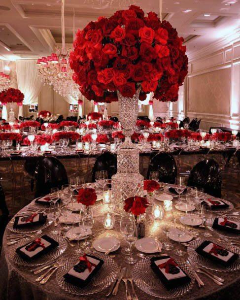 Cherished Red Wedding Flower Art