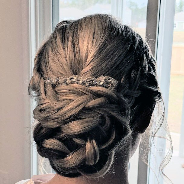 Chignon Twisted Braid Hairstyle For Women