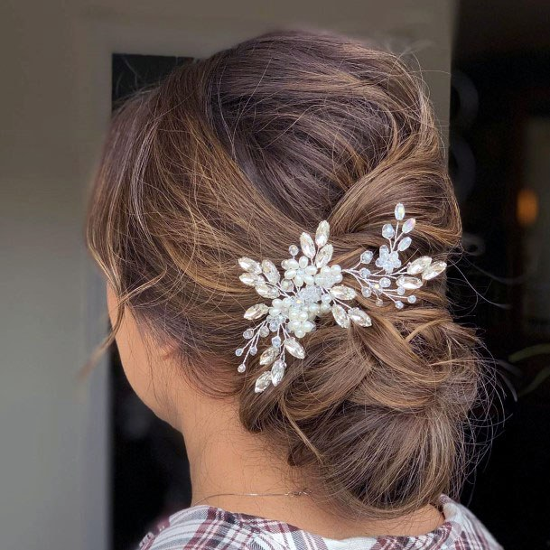 Chignon With Back Decoration Hairstyle For Women