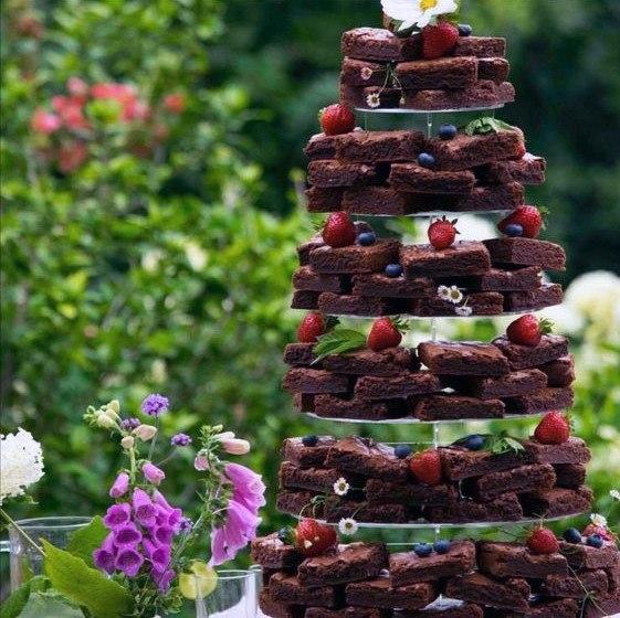Chocolate And Fruits Unique Wedding Cake