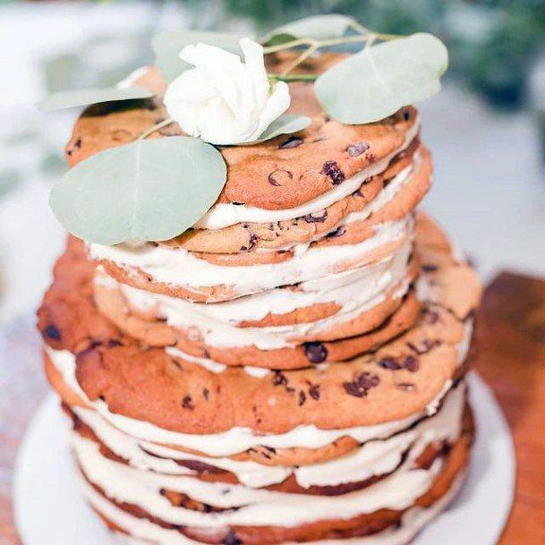 Chocolate Chip Cookie Creamed Unique Wedding Cake