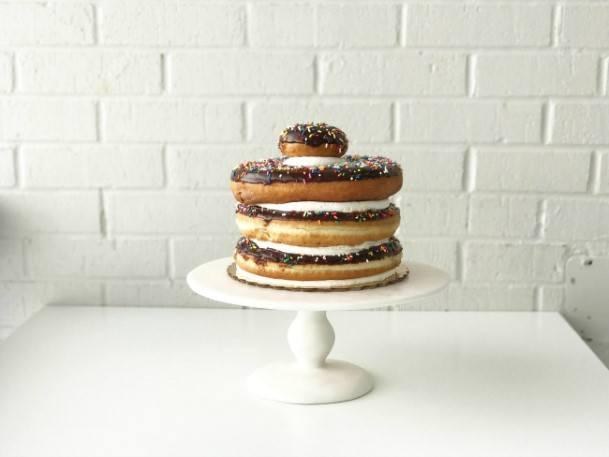 Chocolate Donut Wedding Cake