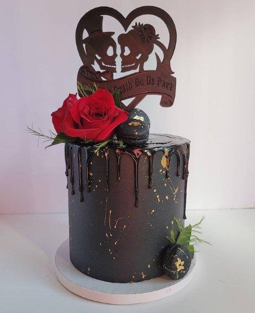 Chocolate Heart Halloween Wedding Cakes