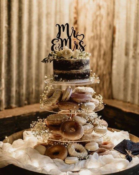 Chocolate Wedding Cake And Donut