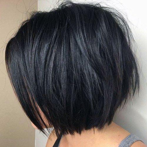 Choppy Black Bob Women Hairstyle