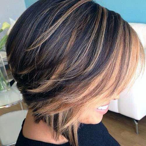Choppy Brunette Bob Hairstyle For Women