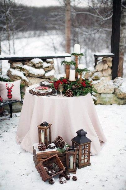 Christmas Wedding Flowers Frozen