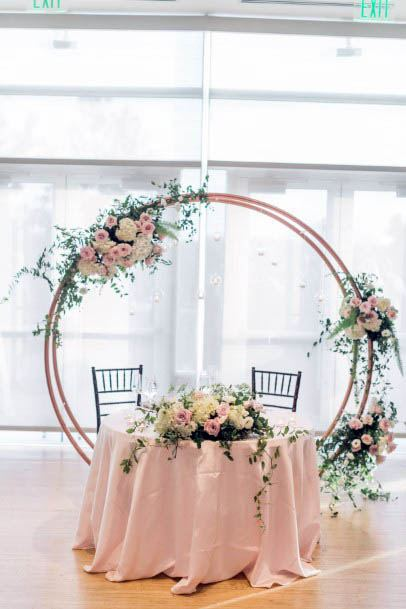 Circular Decor August Wedding Flowers