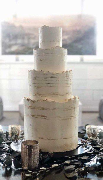 Circular Four Level Elegant Wedding Cake Women