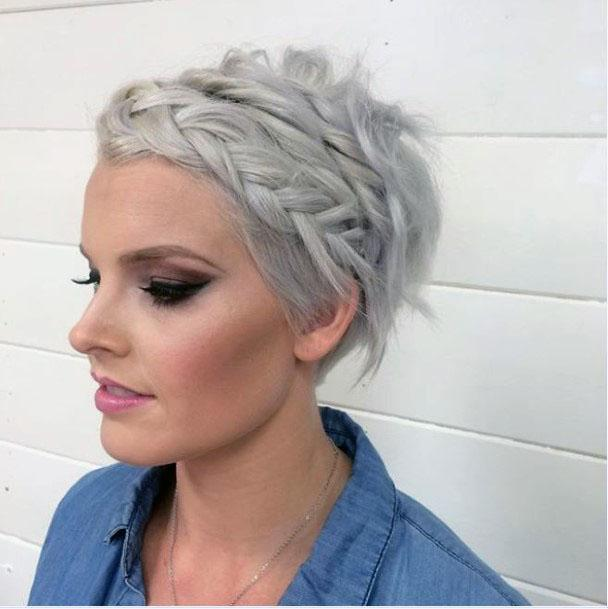 Classic Braided Crown Pixie Women Hairstyle
